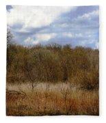 Unspoiled Prairie Landscape Fleece Blanket