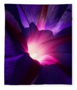 Up Close And Purple Fleece Blanket