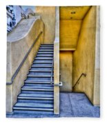 Up Stairs Down Stairs Fleece Blanket