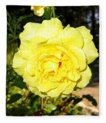 Upbeat Yellow Rose Fleece Blanket