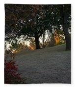 Uphill Sunrise Fleece Blanket