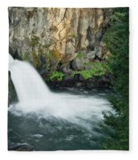 Upper Mccloud Falls Fleece Blanket