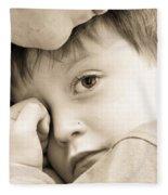 Upset Child Fleece Blanket