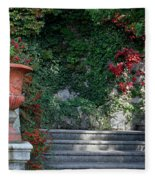Urn And Steps At A Villa On Lake Como Fleece Blanket