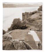 Urquhart Castle Ages Fleece Blanket