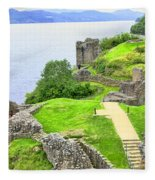 Urquhart Castle IIi Fleece Blanket