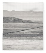 U.s. Alt-89 At Vermilion Cliffs Arizona Bw Fleece Blanket
