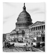 U.s. Capitol, 1884 Fleece Blanket
