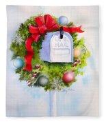 Us Mail Fleece Blanket