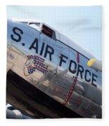 Usaf Douglas Dc-3 Transport Aircraft Fleece Blanket