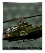 Usmc Ah-1 Cobra Fleece Blanket