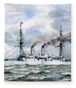 Uss Boston, 1890 Fleece Blanket