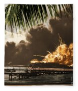 U S S Shaw Pearl Harbor December 7 1941 Fleece Blanket