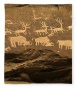Utah Petroglyphs 1 Fleece Blanket
