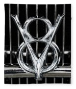V-8 Car Emblem Fleece Blanket