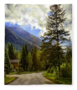 Vail Country Road 1 Fleece Blanket
