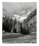 Val Di Cogne In The Italian Alps Fleece Blanket
