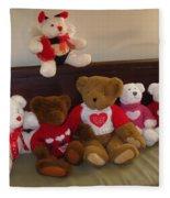 Valentine Bears  Fleece Blanket