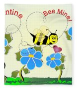 Valentine Bee Mine Fleece Blanket