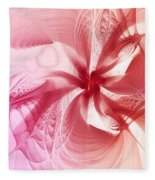 Valentine Flower Fleece Blanket