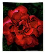 Valentine Rose Fleece Blanket