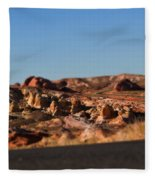 Valley Of Fire Winding Road Fleece Blanket