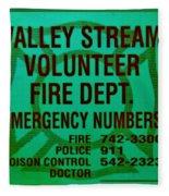Valley Stream Fire Department In Irish Green Fleece Blanket