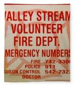 Valley Stream Fire Department Fleece Blanket