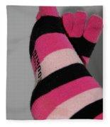 Val's Feet Fleece Blanket