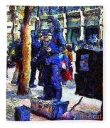 Van Gogh Is Captivated By A San Francisco Street Performer . 7d7246 Fleece Blanket