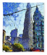 Van Gogh Sips Absinthe And Takes In The Views From North Beach In San Francisco . 7d7431 Fleece Blanket
