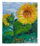 Van Gogh Sunflowers Fleece Blanket