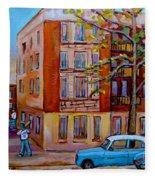 Van Horne Boulevard Montreal Street Scene Fleece Blanket