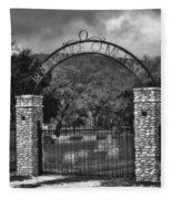 Vance Cemetery Black And White Fleece Blanket