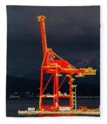 Vancouver, Bc - Harbour Fleece Blanket