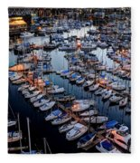 Vancouver British Columbia 9 Fleece Blanket