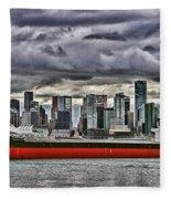 Vancouver Freighter Hdr Fleece Blanket