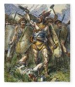 Vandal Invasion Of Rome Fleece Blanket