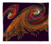 Variegated Abstract Fleece Blanket