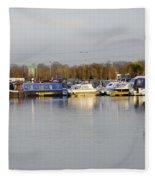 Various Boats At Barton Marina Fleece Blanket