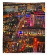 Vegas Strip Fleece Blanket