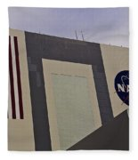 Vehicle Assembly Building Fleece Blanket