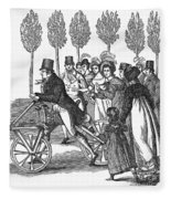 Velocipede, 1827 Fleece Blanket