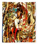 Venetian Abstract Fleece Blanket