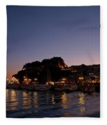Venetian Castle Of Parga Fleece Blanket