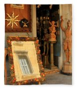 Venice Antique Shop Fleece Blanket