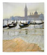 Venice At Dawn Fleece Blanket