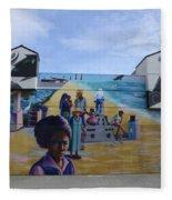 Venice Beach Wall Art 4 Fleece Blanket