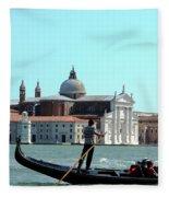Venice From A Gandola Fleece Blanket