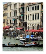 Venice Grand Canal 2 Fleece Blanket